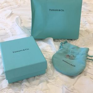 Authentic Tiffany and Co heart tag earrings